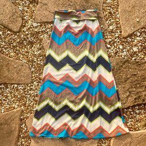 Cute Geometric Print Agnes + Dora Maxi Skirt